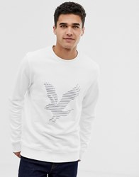 Lyle And Scott Large Logo Sweat In White