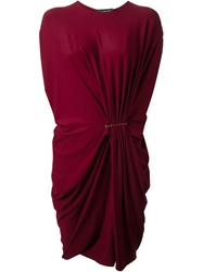 Lanvin Safety Pin Dress Red