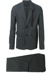 Ann Demeulemeester Crinkled Effect Two Piece Suit Grey
