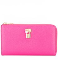 Dolce And Gabbana Padlock Wallet Pink Purple