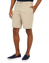 Nautica Slim Fit Flat Front Shorts Red