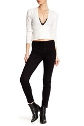 Genetic Denim Cindy Lace Up Skinny Jean Black