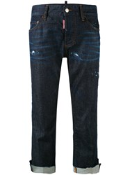 Dsquared2 Cool Girl Cropped Jeans Women Cotton Spandex Elastane 36 Blue