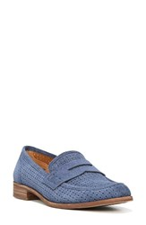 Sarto By Franco Sarto Women's 'Jolette' Penny Loafer Navy Perforated Suede