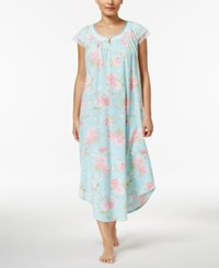 Charter Club Lace Trimmed Printed Cotton Nightgown Only At Macy's Romantic Roses
