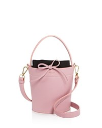 Mateo Madeline Leather Bucket Bag Cameo Pink Gold