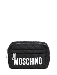 Moschino Quilted Nylon Make Up Bag With Logo