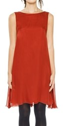 Leon Max Silk Mesh Chiffon Sleeveless Dress