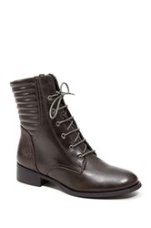 French Blu Obsession Lace Up Boot Green