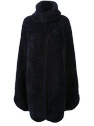 Scanlan Theodore Super Angora Long Cape Blue