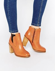 Bronx Heeled Ankle Boots Tan