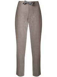 Eleventy Loose Fit Track Trousers Nude And Neutrals