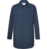 Norse Projects Thor Cotton Blend Raincoat Navy