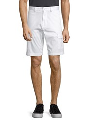 Paul And Shark Flat Front Shorts White