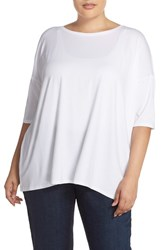 Plus Size Women's Eileen Fisher Lightweight Jersey Ballet Neck Tunic