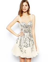 Forever Unique Sweetheart Prom Dress In Iridescent Sequin Embellishment