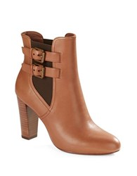 Lauren Ralph Lauren Viv Leather Booties Tan