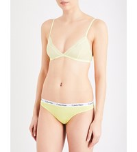 Calvin Klein Sheer Stretch Mesh And Lace Triangle Bra Aw3 Pale Dawn