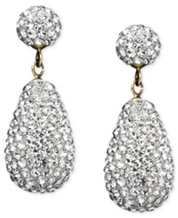Macy's 10K Gold Earrings Crystallized Drop
