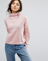 New Look Stand Neck Crop Jumper Bright Pink