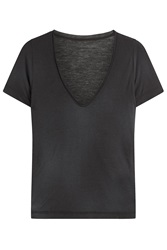 Zadig And Voltaire Jersey T Shirt With Cashmere Black