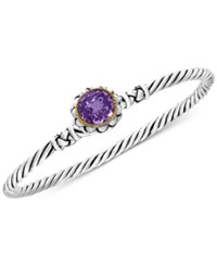 Effy Balissima Amethyst Twist Bangle Bracelet 2 3 4 Ct. T.W. In Sterling Silver And 18K Gold Purple