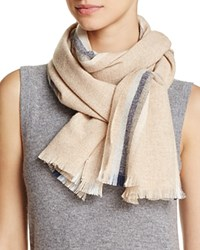Bloomingdale's C By Lightweight Vertical Stripe Cashmere Scarf 100 Exclusive Taupe