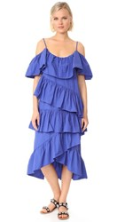 Edit Ruffle Dress Electric Blue