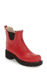 Women's Ilse Jacobsen Hornbaek 'Rub 47' Short Waterproof Rain Boot Deep Red