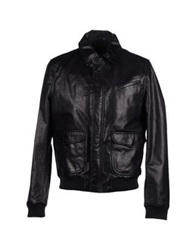 Blk Dnm Leather Outerwear Black