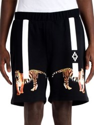 Marcelo Burlon X Tyga Tiger Shorts Black