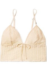 Love Stories Dawn Pointelle Knit Soft Cup Bralette Beige