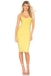 Bcbgmaxazria Midi Bodycon Dress Yellow
