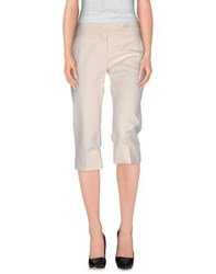 Pinko Black Trousers 3 4 Length Trousers Women Ivory
