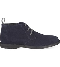 Corneliani Boston Desert Ankle Boots Navy