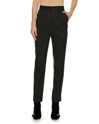 Dolce And Gabbana Classic Stretch Flannel Pants Gray