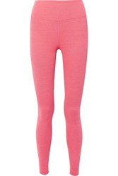 Heroine Sport Rise Logo Embroidered Stretch Leggings Coral
