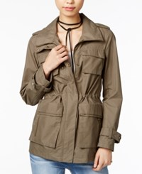 Madden Girl Hooded Anorak Olive