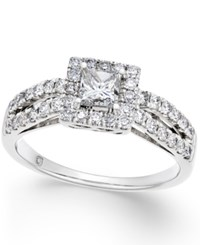 Macy's Diamond Engagement Ring 1 Ct. T.W. In 14K White Gold