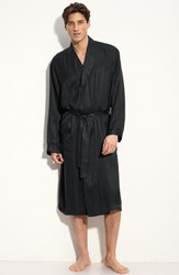 Men's Majestic International Herringbone Stripe Silk Robe Night