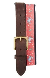 Vineyard Vines Men's Crabs Canvas Club Belt