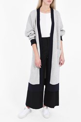Joseph Women S Contrasting Long Cardigan Boutique1 Grey