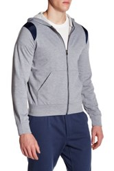 Parke And Ronen Long Sleeve Lounge Hoodie Gray