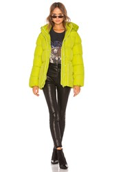 Lovers Friends Lindsey Belted Puffer Jacket Green