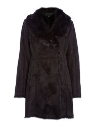 Andrew Marc New York Faux Shearling Coat Black