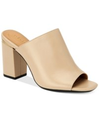 Calvin Klein Women's Cicelle Peep Toe Mules Women's Shoes Cocoon