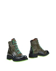 Barracuda Ankle Boots Military Green
