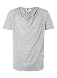 Topman Grey Cowl Neck T Shirt