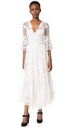 Temperley London Midi Mast Dress White
