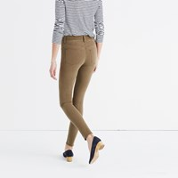 Madewell 9 High Rise Skinny Jeans Garment Dyed Edition Safari Khaki